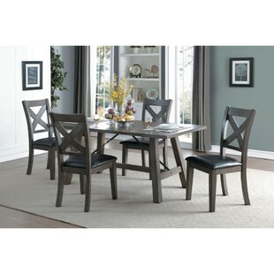 Melodi Wooden 5 Piece Dining Table Set