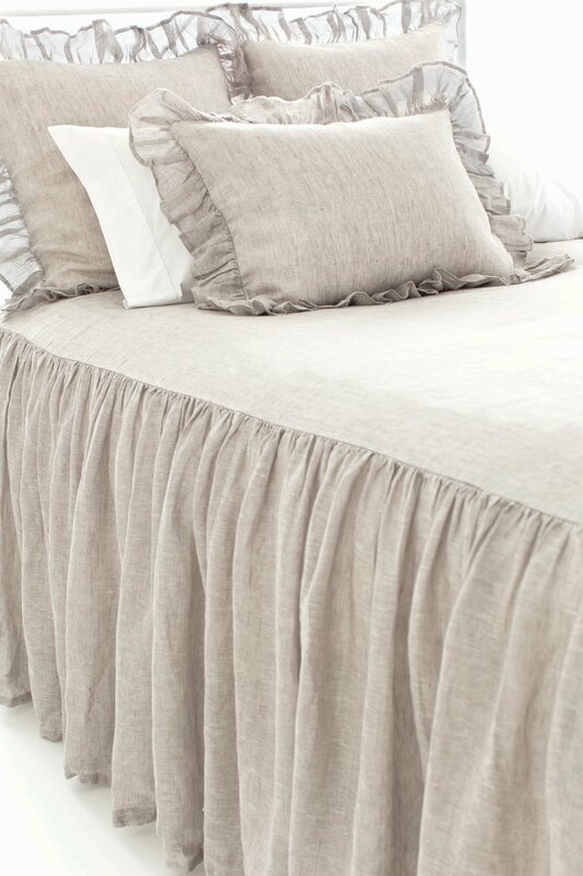 French Country Linen Bedspread #linenbedding #FrenchCountry