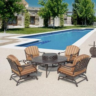 Laneon Fire Pit Set Sunbrella Seating Group With Cushions by Art Frame Direct Cool