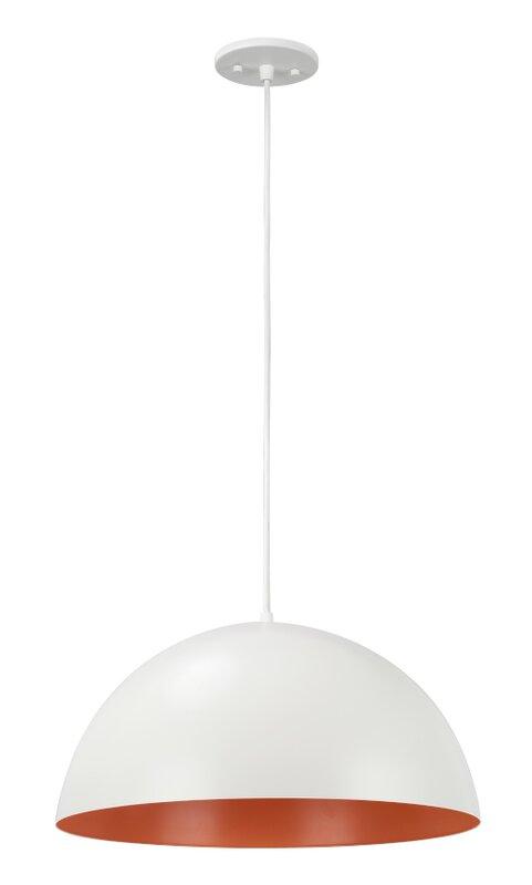 Aspen Creative Corporation 1 Light Single Dome Pendant Wayfair