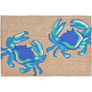 Anchoretta Hand-Tufted Blue Indoor/Outdoor Area Rug