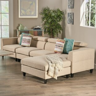 Lundberg Modern Extended Deep Seated Chaise Modular Sectional