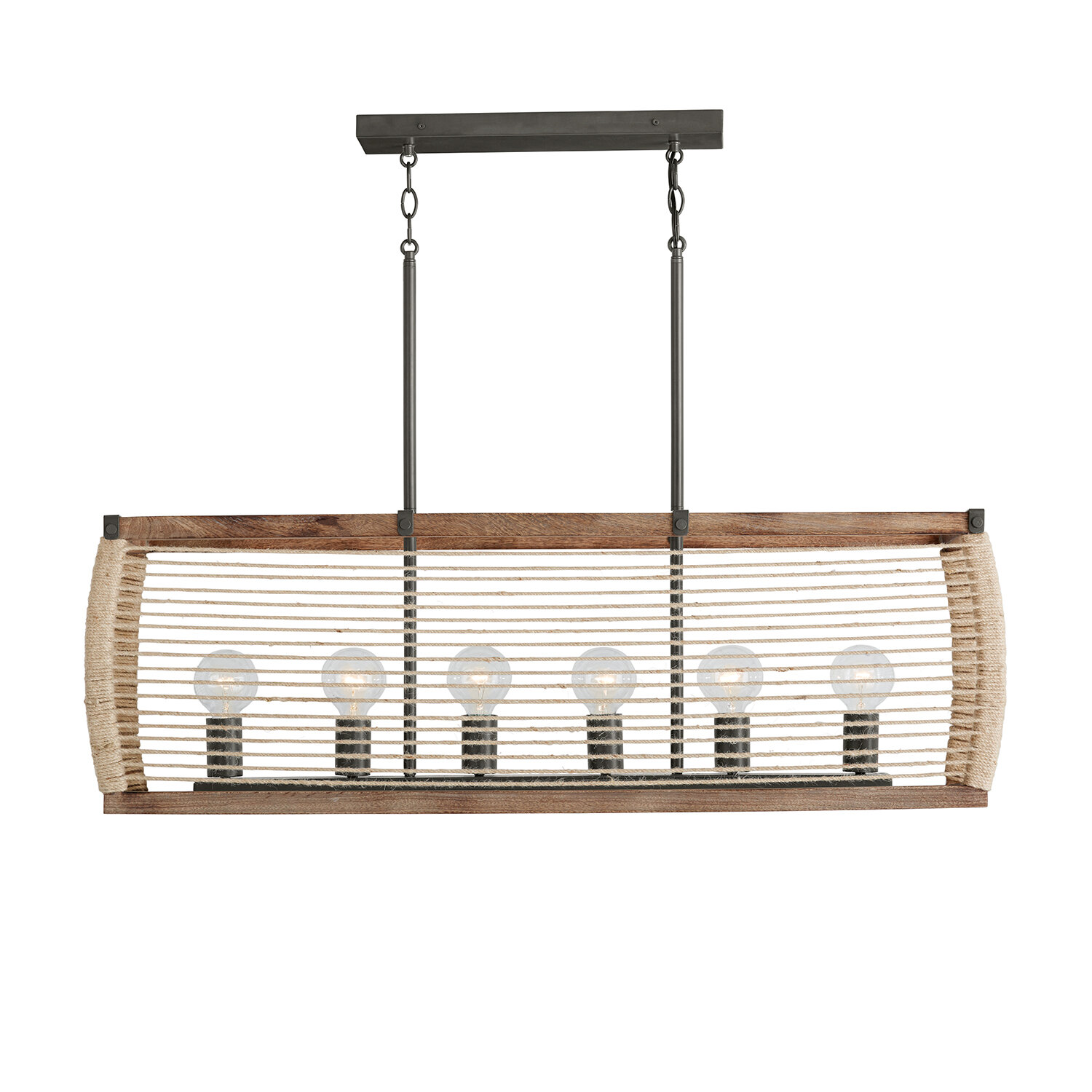 Loon Peak Marva 6 Light Kitchen Island Linear Pendant Wayfair