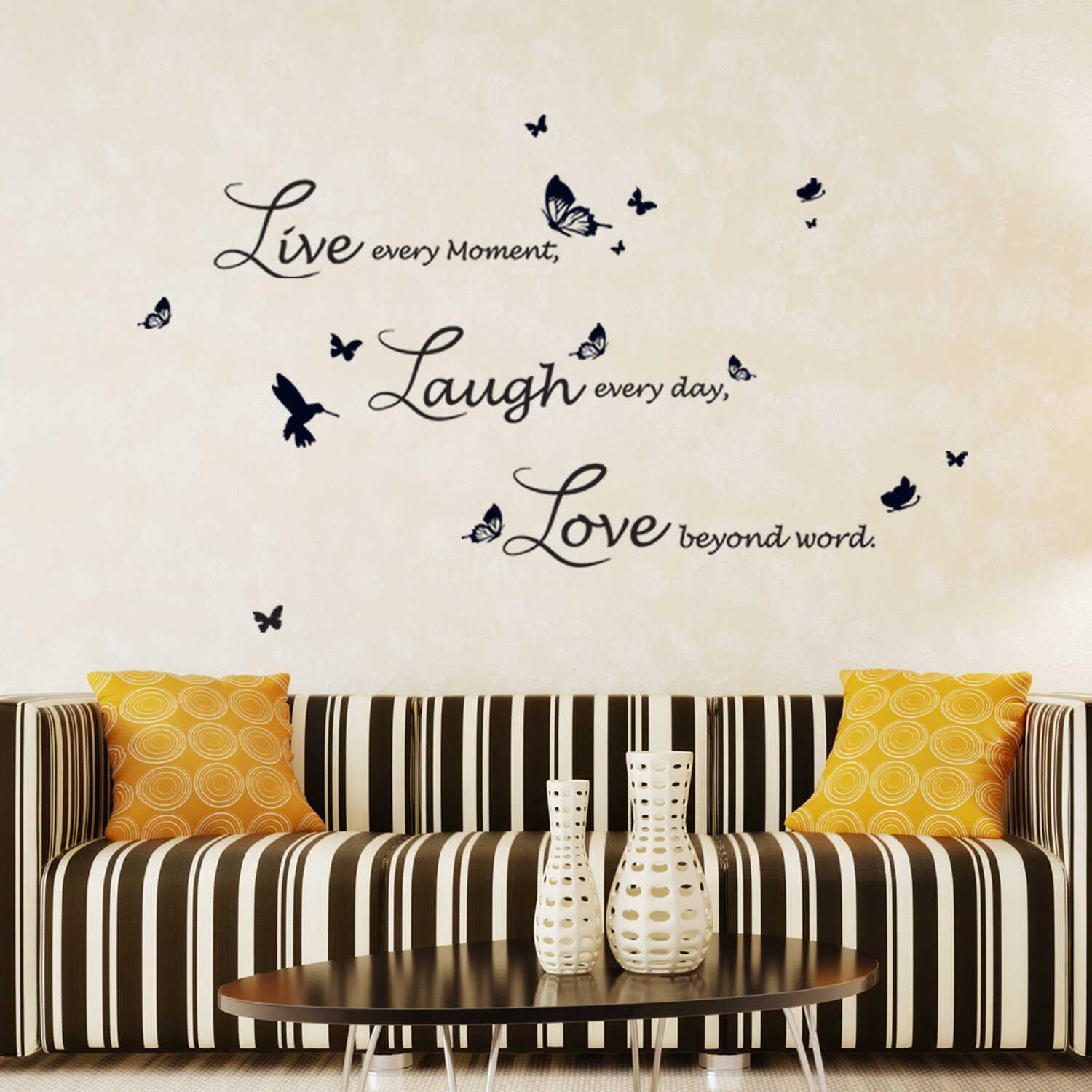 Ebern Designs Lucida Live Laugh Love Wall Decal Reviews Wayfair