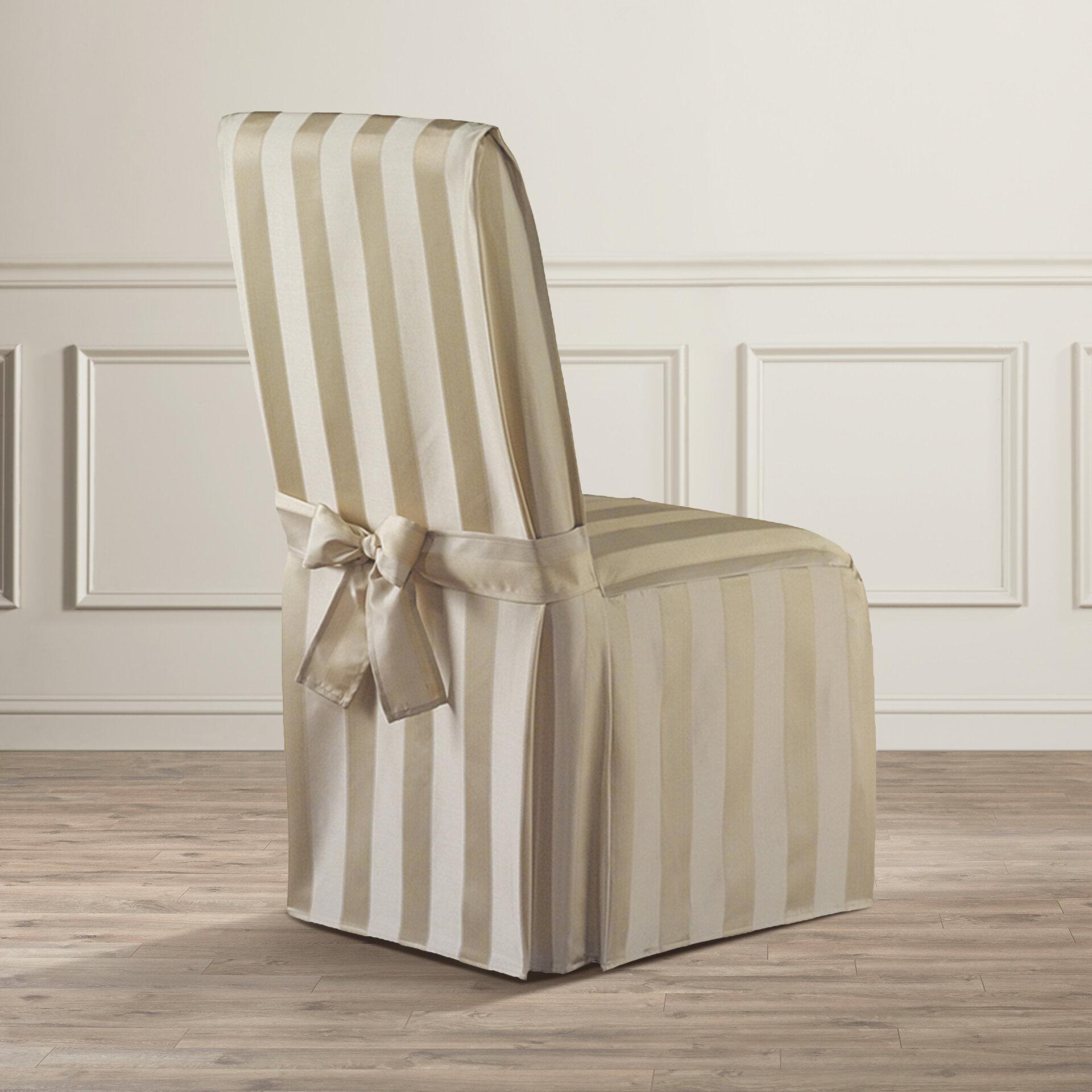 Astoria Grand Box Cushion Dining Chair Slipcover Reviews Wayfair Ca
