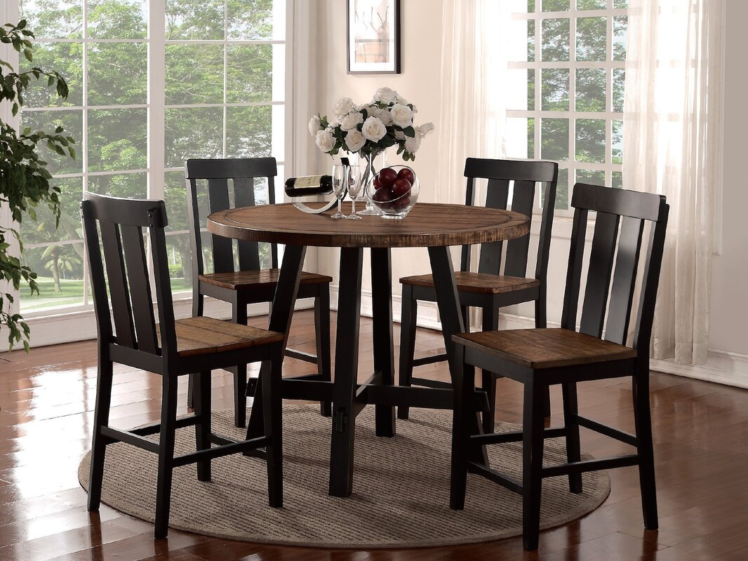Gracie Oaks Goodman 5 Piece Counter Height Dining Set & Reviews ...