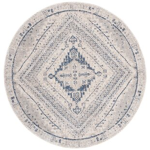 Fargo Navy/Ivory Area Rug by World Menagerie