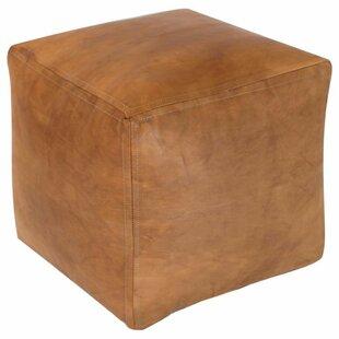 Astonishing Desborough Moroccan Leather Pouf Ncnpc Chair Design For Home Ncnpcorg