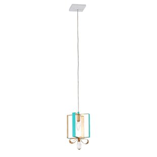 Joetta 1-Light Square/Rectangle Pendant by Wrought Studio