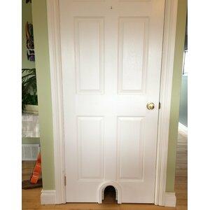 Cat Door with a Brush