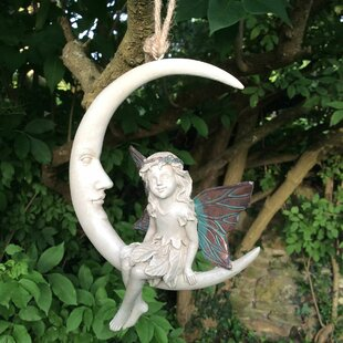 Ashton-in-Makerfield Forest Fairy Elva Dream Catcher Hanging Statue By Sol 72 Outdoor