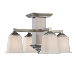 Red Barrel Studio Woolforlk Traditional 4-Light Semi Flush Mount