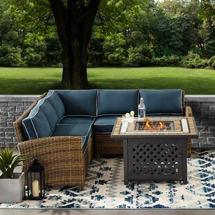 Lawson 4-Piece Rattan Sectional Seating Group with Cushions