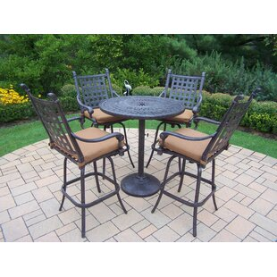 Darby Home Co Vandyne 5 Piece Bar Height Dining Set with Cushions