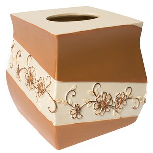 Sweet Home Collection Veronica Tissue Box Cover