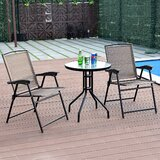 Anndy Garden Furniture 3 Piece Bistro Set
