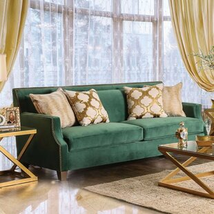 Shop Maci Sofa with Toned Pillows by Everly Quinn