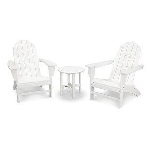 POLYWOOD PWS182-1-BL Long Island 5-Piece Conversation Group Adirondack Seating Set Black
