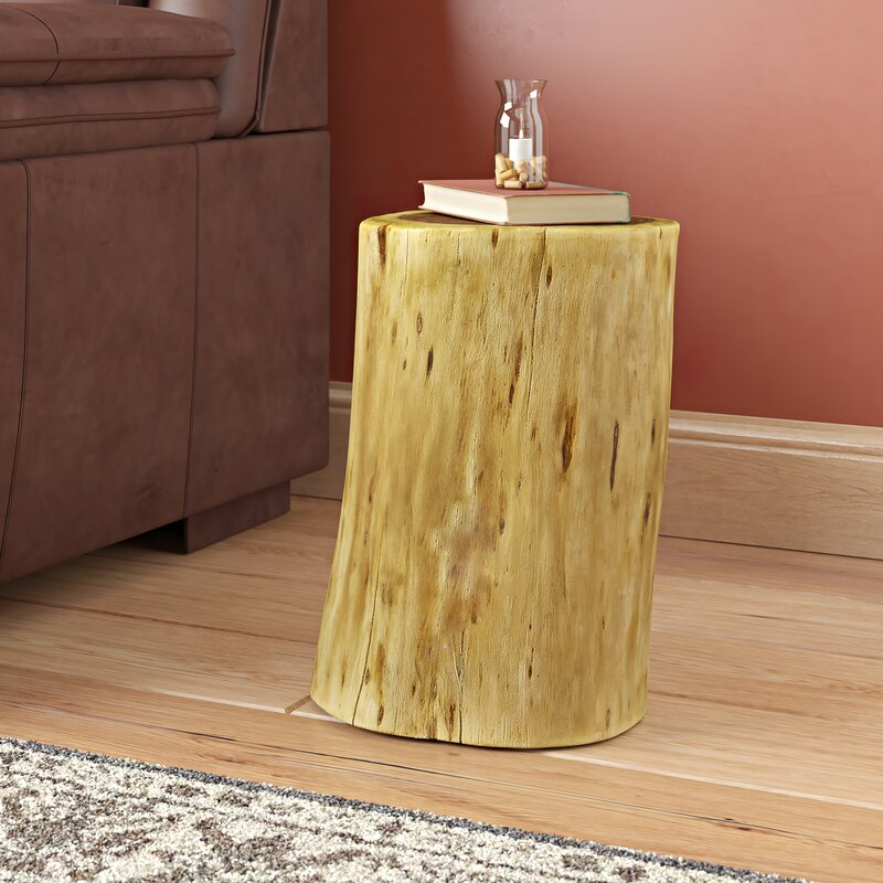 Wingfield Solid Wood Tree Stump End Table