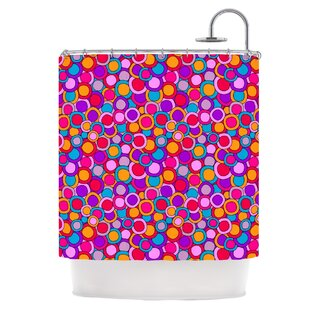 Colourful Circles Single Shower Curtain
