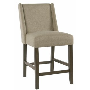 Keira Fabric Upholstered Wooden Bar Stool by Red Barrel Studio