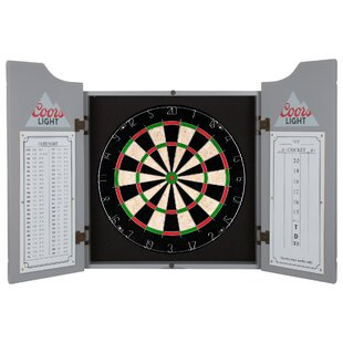 Coors Light Dartboard Cabinet Set by Miller Coors