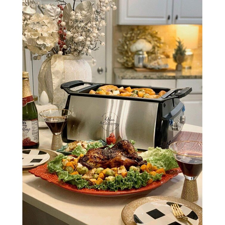 Kitchen Academy Electric Grill Non Stick Electric Grill And Panini Press Wayfair
