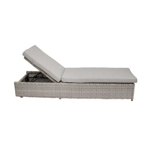 Swindon Reclining Sun Lounger With Cushion Image