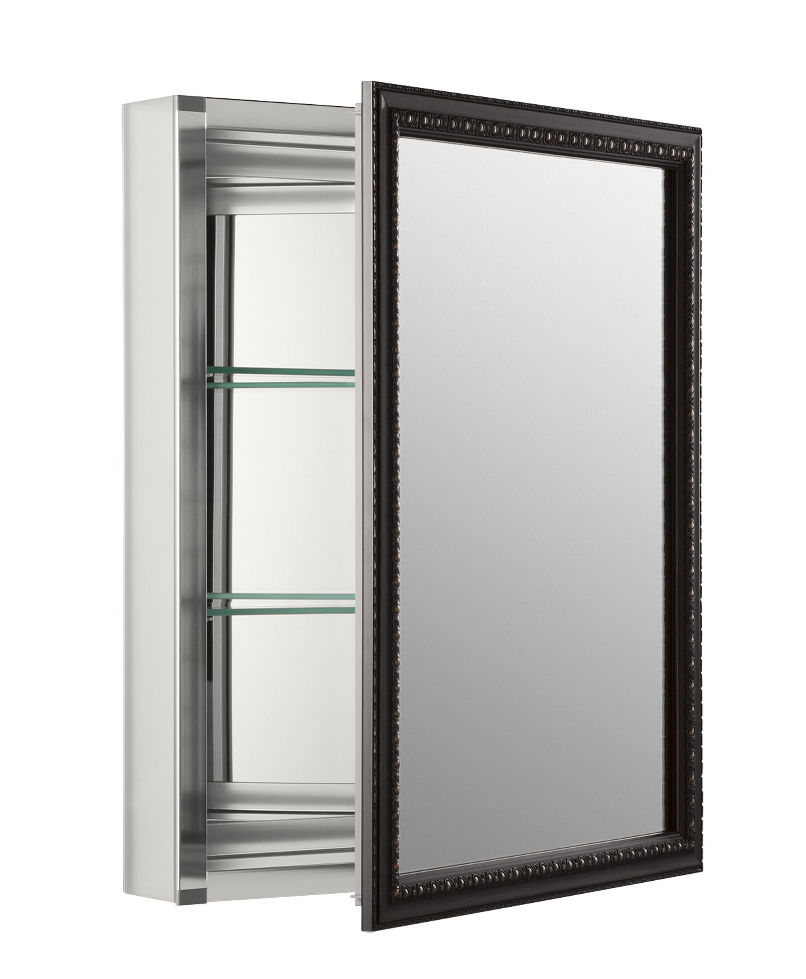"Wall Mounted Medicine Cabinet Mirror k-2967-br1 kohler 20"" x 26"" wall mount mirrored medicine cabinet"