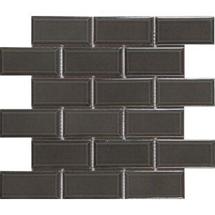 Charcoal Bevel 2 X 4 Ceramic Subway Tile In Gray