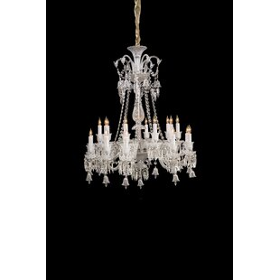 Michael Amini Treviso 20-Light Candle Style Chandelier