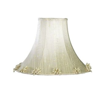 Best Reviews Pearl Burst 10.25 Silk Bell Lamp Shade By Jubilee Collection