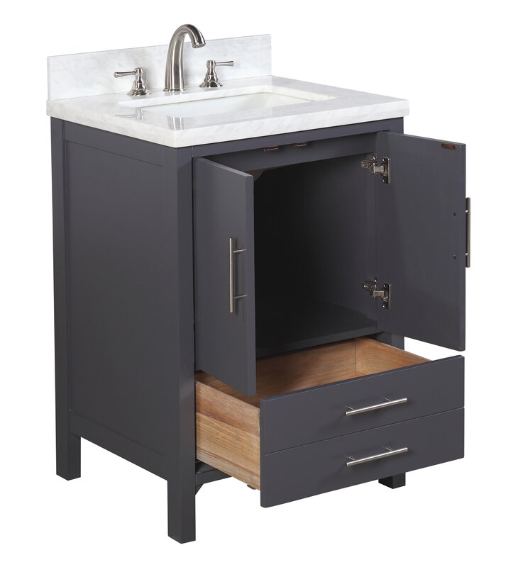 "California Bathroom kbc california 24"" single bathroom vanity set & reviews | wayfair"