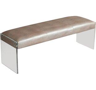 Interlude Nori Leather Bench