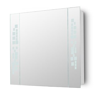 Penelope 60cm X 64cm Surface Mount Mirror Cabinet With LED Lighting By Wade Logan