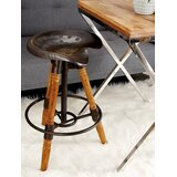 Cunningham Adjustable Height Swivel Bar Stool by Breakwater Bay