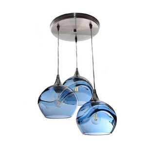 Chickerell Cascade 3-Light Cluster Pendant (Set of 3) by Wrought Studio