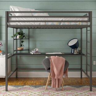 Maxwell Metal Loft Bed with Built-in-Desk by Novogratz