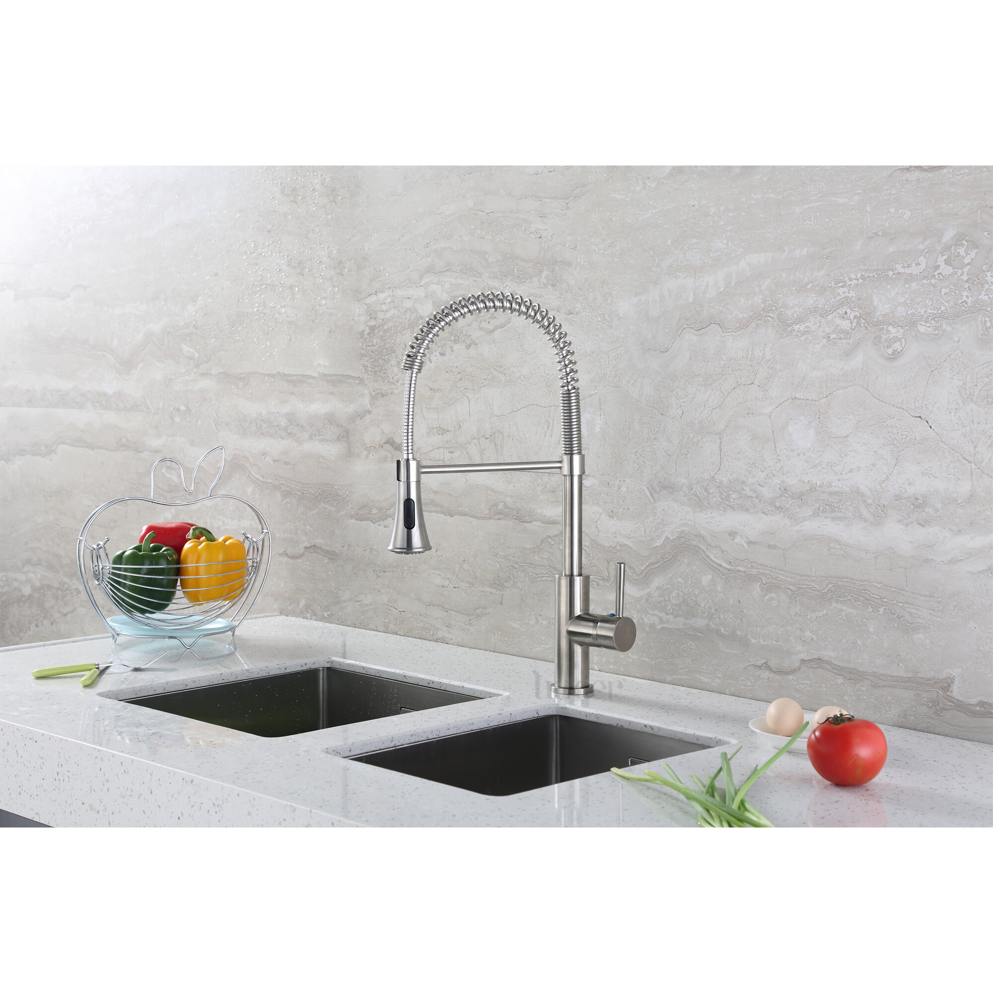 Luxier Pull Down Single Handle Kitchen Faucet Reviews Wayfair