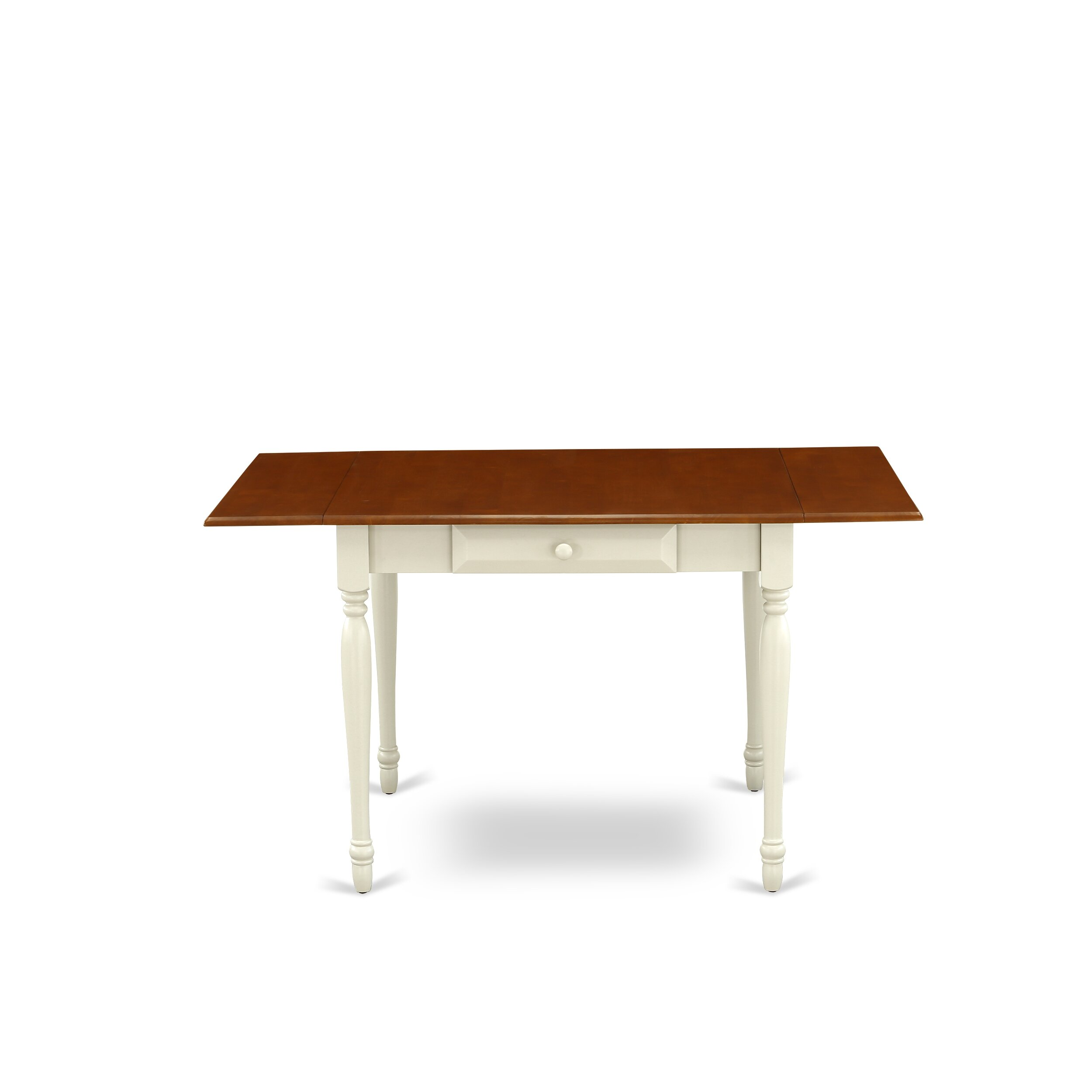 Cheap Monza Drop Leaf Rubberwood Solid Wood Dining Table Furniture Online