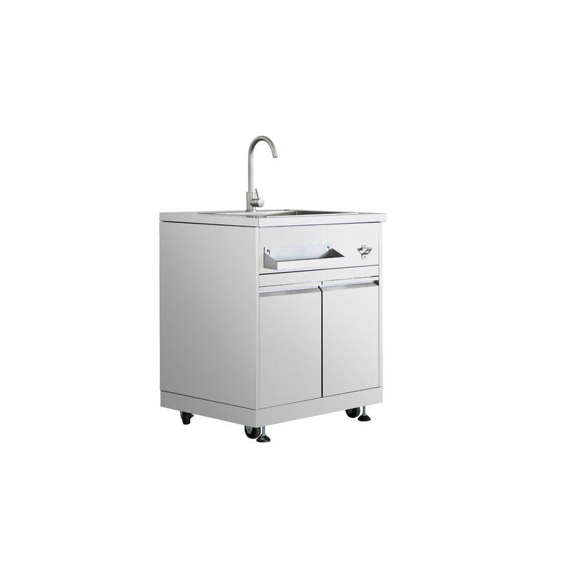 Thorkitchen Modular Outdoor Kitchen Sink Cabinet In Stainless Steel
