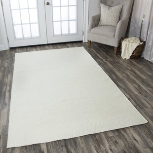 Ava Handmade Wool Parchment Solid Area Rug By Birch Lane™ Heritage
