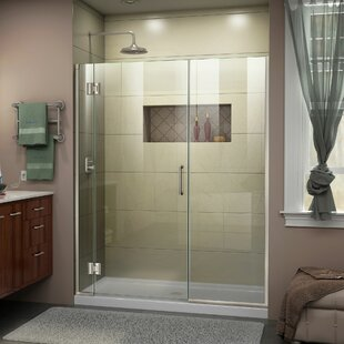DreamLine Unidoor-X 46 1/2-47 in. W x 72 in. H Frameless Hinged Shower Door