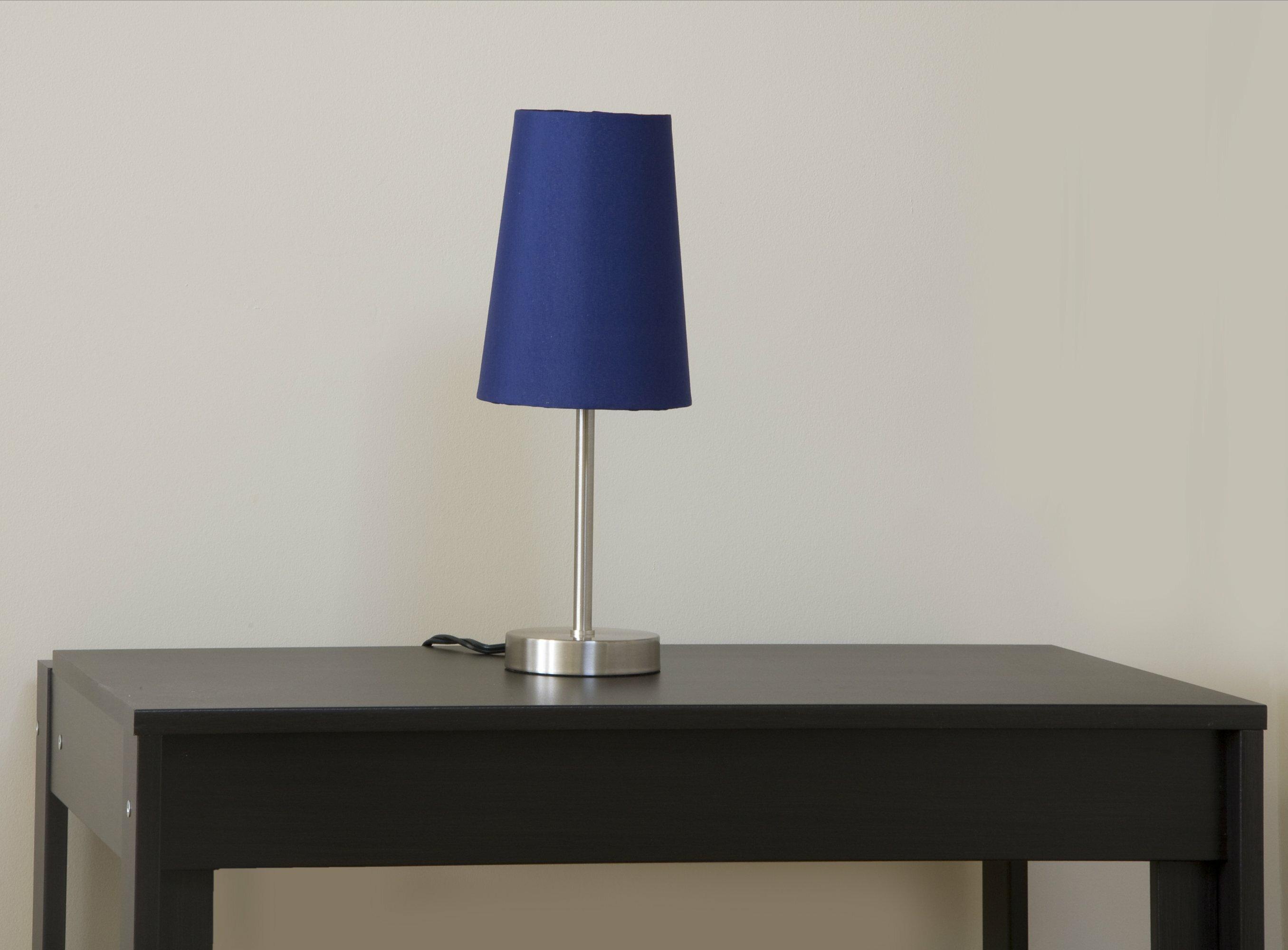Latitude Run Anwita 14 25 Brushed Nickel Bedside Table Lamp Wayfair