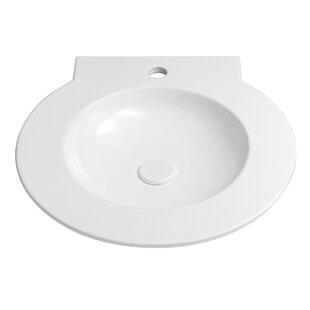 Ronbow Waterspace Ceramic Circular Drop-In Bathroom Sink