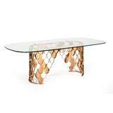 Dwaine Glass Dining Table by Everly Quinn