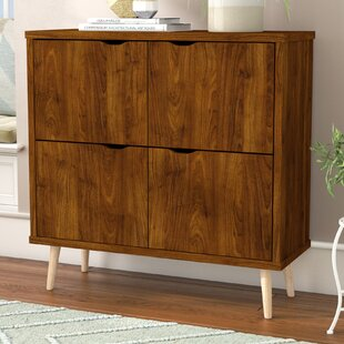 Turn on the Brights Roberta Mid Century 4 Door Accent Cabinet