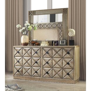 Pinnix Weathered 6 Drawer Double Dresser