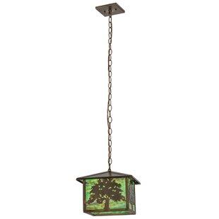 Oak Tree 1-Light Lantern Pendant by Meyda Tiffany