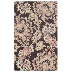 Buy Kinzer Floral Hand Tufted Wool Brown Area Rug!